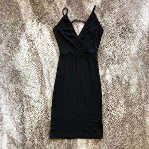 Black Ribbed Tank Dress